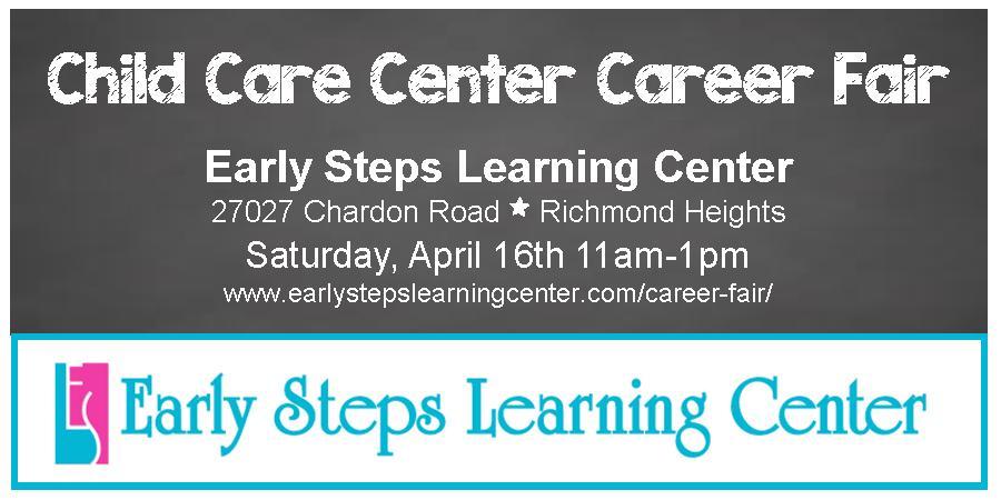 Early Steps Learning Center Career Fair image online April 2016