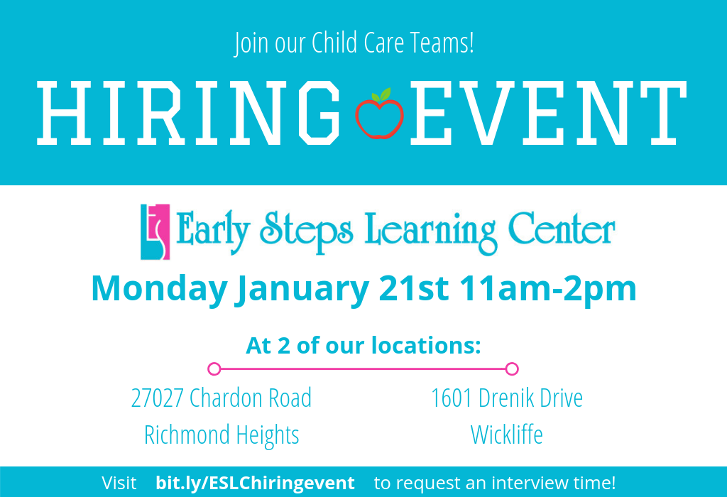 Child Care Center Hiring Event 1-21-19